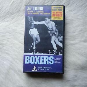 BOXERS A Marshall Cavendish Video Collection VHS Video Tape JOE LOUIS Sports