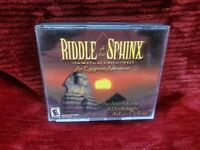 Dreamcatcher Riddle of the Sphinx An Egyptian Adventure PC MAC 2000 CD Game