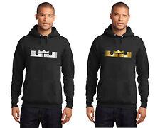 New LEBRON JAMES Men's Hoodie Hooded Sweatshirt Metallic Shiny Silver or Gold