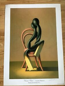 """Vintage Expressionist Poster """" Vienna Chair"""" signed Juris Dimeters,1998, 15x23in"""