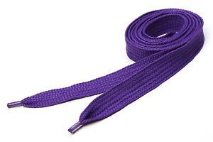 Super Fat Shoelaces Coloured Flat Skate Shoe Laces Trainers Boots Wide Purple