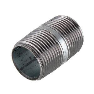 "1"" GALVANIZED STEEL 2""  LONG  NIPPLE fitting pipe npt 1 x 2 malleable iron"