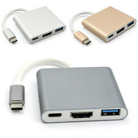 TypC USB 3.1to USB-C 4K HDMI USB3.0 Adapter 3 in 1 Hub für Apple Macbook