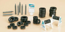 Auhagen Tyres with Stand and Gas Cylinders 42590 HO Scale (suit OO also)