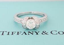 Tiffany & Co 0.80 ct Platinum Round Cut Diamond Ribbon Engagement Ring I / VS1