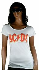 RARE AMPLIFIED Oficial AC DC ACDC LOGO ROCK STAR VINTAGE VIP Camiseta S 36/38