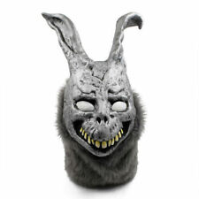 US! Donnie Darko FRANK Rabbit Mask Halloween the Bunny Latex Hood with Fur Mask