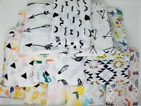 100% Organic Cotton Soft Muslin Swaddle Blanket Sets Unisex Fast Free US ship