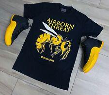 Tee para que coincida con Air Jordan Retro 12 Universidad Oro Zapatillas. amenaza Tee