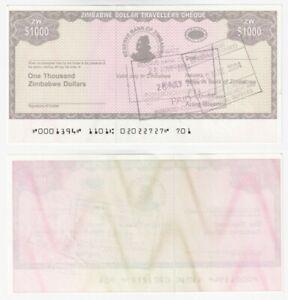 ZIMBABWE 1000 Dollars Emergency currency note (2003) P.15 - UNC.
