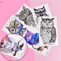 Owl Temporary Tattoo Women Body Art Animal Waterproof Sticker 105*150mm DD