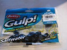 """BERKLEY GULP! SALTWATER 1/2"""" Sand Crab Flea W/G (24 to 28/bag) Black!!!"""