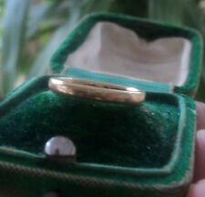 UNUSUAL 9ct Yellow Gold Wedding Band Ring 1942 Chester + Utility Mark  -  size J