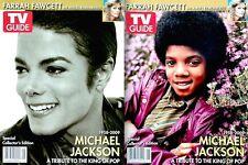 TV Guide 2009 Michael Jackson Collector's Ed Tribute Set Of 2 Farrah Fawcett