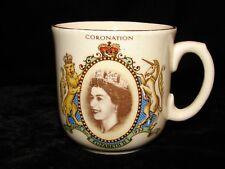 1953 QUEEN ELIZABETH II CORONATION MUG SAMPSON BRIDGEMAN & SON ENGLAND