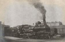 Photographie ancienne 1905 Train vapeur Express Paris Départ
