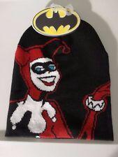 Harley Quinn Batman Jacquarded DC Comics Slouch Beanie Knit Hat Nwt