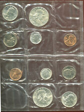 1960 SILVER P & D 10 PC. MINT SET (D955) Very Nice Set In Original Cello