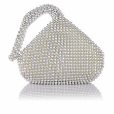 Women's Evening Clutch Bag Triangle Full Rhinestones Party Prom Wedding Purse