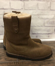 Ugg Boots Australia Stoneman Brown Leather Suede Mens Size 8 S/N 1003624