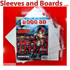 10 x 2000AD Classic comic Bags and Acid Free Boards Clear Resealable/Tape