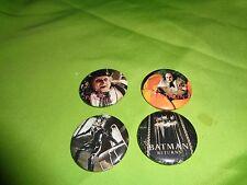 1992 Batman Returns DC Comics Pin Cat Woman Penguin Button Set of four pins