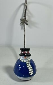 Snowman Candle Snuffer with Snowflake Handle Christmas Holiday Decoration