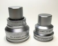 BELL & HOWELL AUX. TELE & WIDE ANGLE LENS SET + FILTER RINGS + CAPS + FREE SHIP