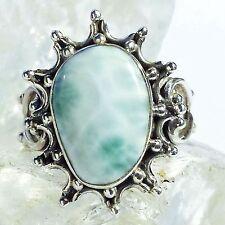 LARIMAR ATLANTIS 8 Ring ECHT 925 Silber Blue Unique Unikat