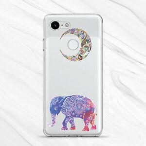 Colorful Boho Mandala Moon Elephant Cover Case For Google Pixel 4 3A 3 2 1 XL