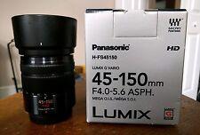 Panasonic Lumix G Vario 45-150mm f/4.0-5.6 ASPH Mega O.I.S Lens - Lightly Used