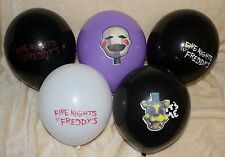 """FIVE NIGHTS AT FREDDY'S 12"""" Party BALLOONS Golden Freddy, Scary Font FNAF"""