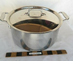 "All-Clad 11"" Dia. Stock Pot W/ Lid USA made Very Nice"