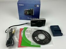 Canon PowerShot SX230 HS 12.1MP Digital Camera w/ Accessories - Black - Tested