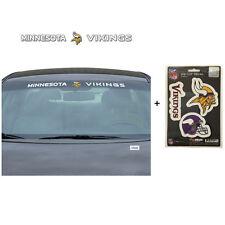 NFL Minnesota Vikings Car Truck Suv Windshield Decal Sticker with Bonus