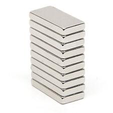 10 X Super Starke Neodym Magnete N52 Magnet Rechteckig Pinnwand Büro 20x10x3mm