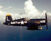 Navy F4U-4 Corsair of Fighter Squadron 74 Be-Devilers 8x10 Korean War Photo 10