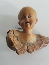 Antiker Engel Aus Holz Putto Kindskopf Mit Flügel