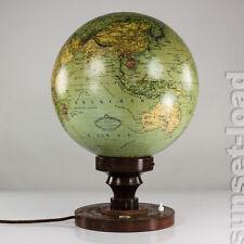alter Columbus Glas Globus Lampe Leuchte Art Deco 30erJahre Beleuchtet 1930-1936