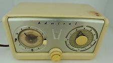 Vintage Admiral Tube Clock Radio Parts & Repair Not Working For Restoration