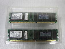 New 4GB HP Samsung PC2100R-25331-N0 2x2GB PC2100 CL2.5 ECC Server Ram Memory Set