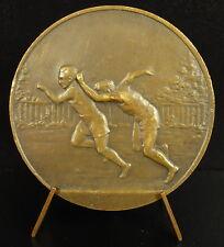 Médaille sport course à pied 100 m running sprint compétition c 1930 medal