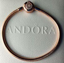 Pandora 589046C01-16 Moments Sparkling Crown O Snake Chain Bracelet s925