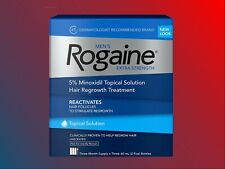 Men's Rogaine Extra Strength Hair Regrowth 3 Month Solution 5% Minoxidil NEW!