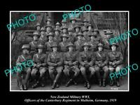POSTCARD SIZE PHOTO OF NEW ZEALAND MILITARY WWI THE CANTERBURY REGIMENT c1919