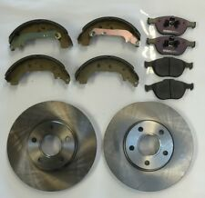 Ford Transit Connect Tourneo Front Brake Discs & Pads & Rear Shoes 2002-2008
