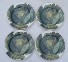 "4 - 10 1/4"" LA PRIMULA - HOME ""KITCHEN GARDEN"" Plates, Cabbage Design, Italy"