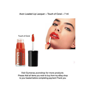 Avon Loaded Glossy Lip Lacquer Lip Gloss~ Touch of Coral ~ Free P&P~ Great Gift
