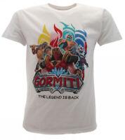 T-shirt Gormiti Originale Ufficiale Legend bianca gruppo bimbo maglia maglietta