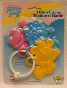Jim Henson's Muppet Babies 3 Ring Circus Teether n' Rattle Remco Baby Brand New